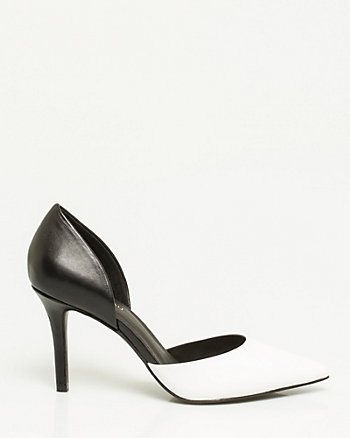 Leather Colour Block d'Orsay Pump