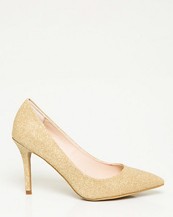 Metallic Glitter Pointy Toe Pump