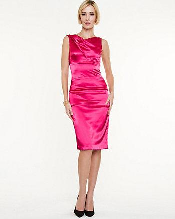 Satin Asymmetrical Dress