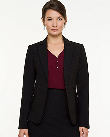 Bengaline Notch Collar Blazer