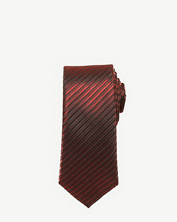 Metallic Stripe Skinny Tie