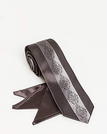 Microfibre Tie & Pocket Square set