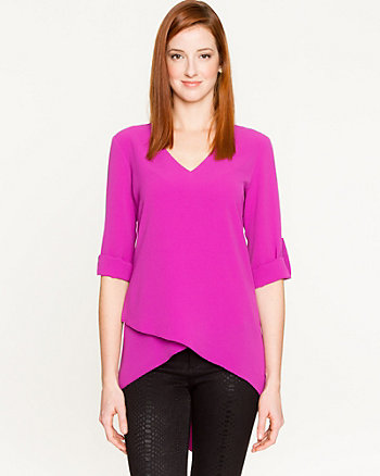 Chiffon Asymmetrical Tunic Blouse