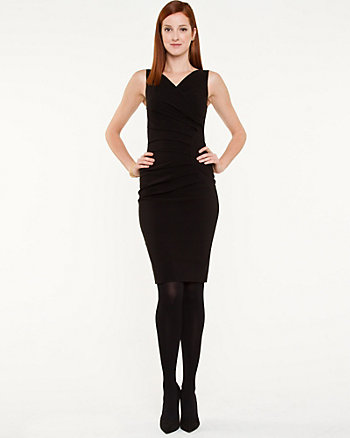Lightweight Bengaline Sheath Dress