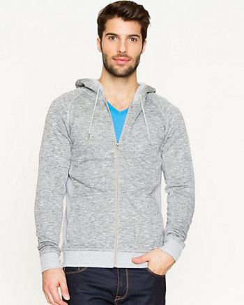 Cotton Blend Zip-Up Hoodie