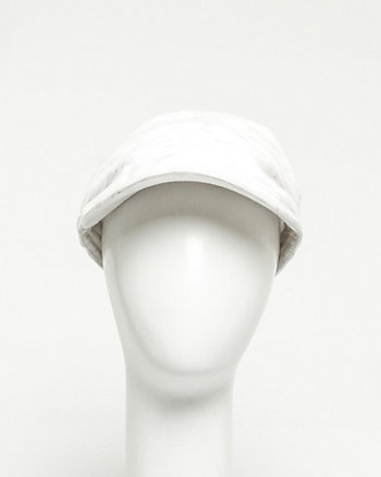 Double Weave Ruched Kepi Hat