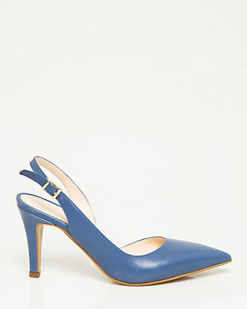 Leather d'Orsay Pump