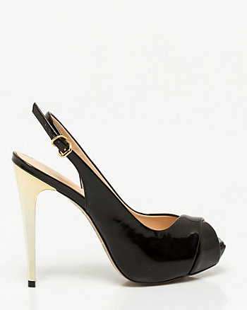 Brazilian-Made Faux Leather Slingback