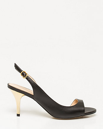 Brazilian-Made Leather-Like Slingback