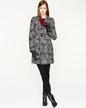 Wool Blend Glencheck Coat
