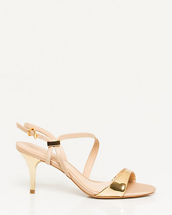Brazilian-Made Metallic Strappy Sandal