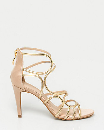 Brazilian-Made Metallic Gladiator Sandal