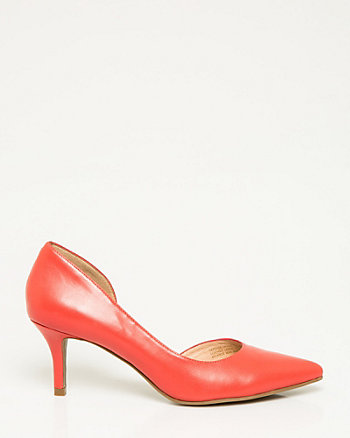 Leather Half d'Orsay Pump