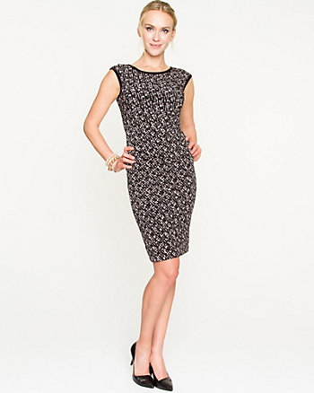 Geo Print Scoop Neck Dress