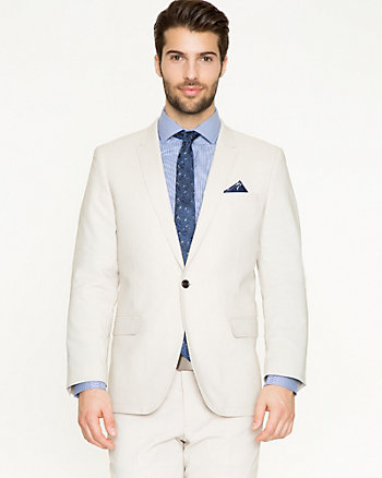 Cotton Twill Slim Fit Blazer