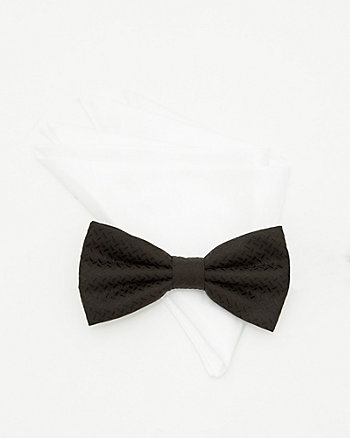 Microfibre Bow Tie & Pocket Square Set