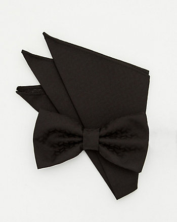 Textured Bow Tie & Pocket Square Set