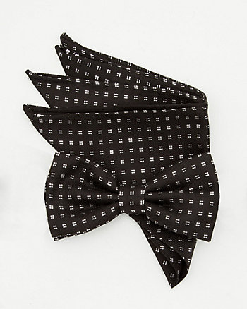 Polka Dot Bow Tie & Pocket Square Set
