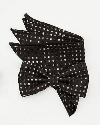Polka Dot Bow Tie & Pocket Square Set