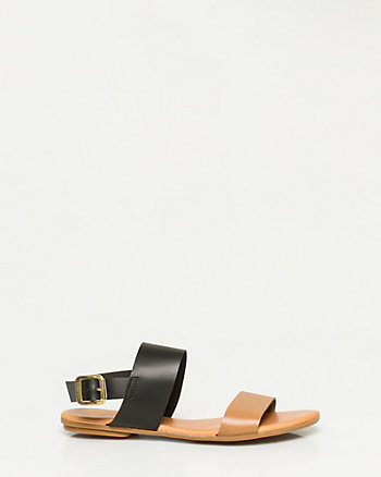 Leather Double Band Sandal