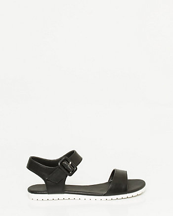 Leather-Like One Band Sandal