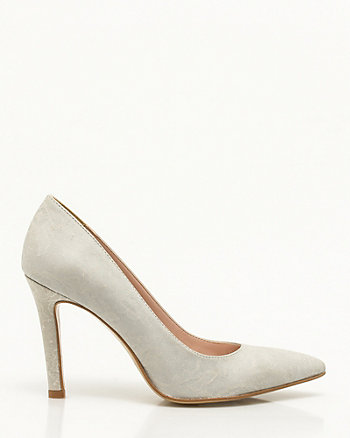 Italian-Made Lace Embossed Pump