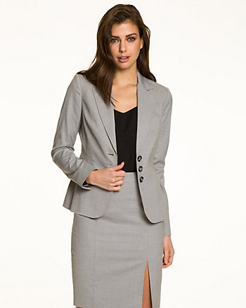Birdseye Notch Collar Blazer