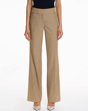 Crosshatch Flare Leg Pant