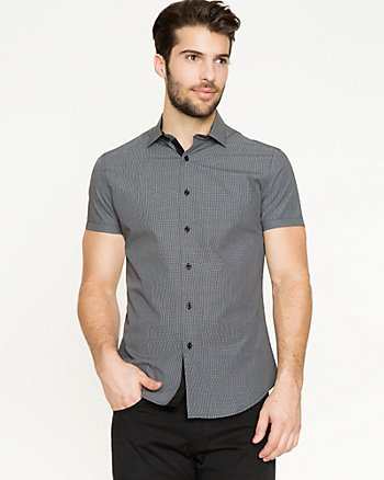 Check Cotton Slim Fit Shirt