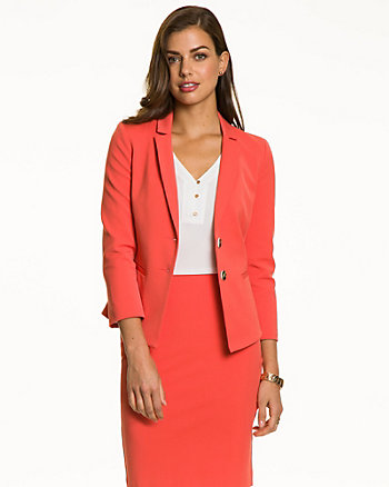 Cotton Twill Notch Collar Blazer