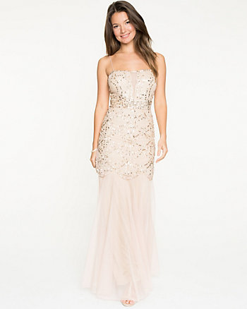 Sequin Mesh Mermaid Gown