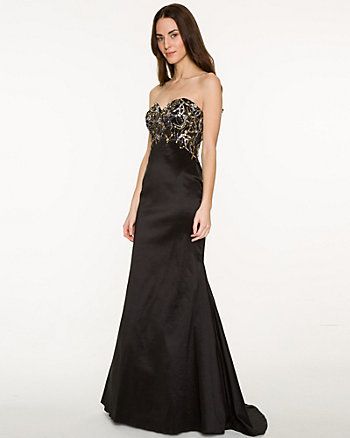 Sequin Taffeta Mermaid Gown