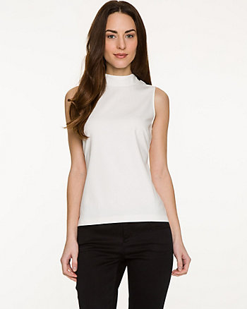 Ponte Mock Neck Top