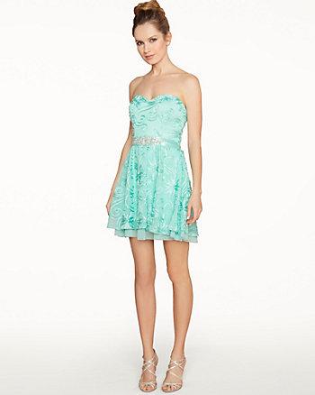 Soutache Sweetheart Party Dress