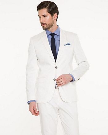 Stretch Cotton Sateen Slim Fit Blazer