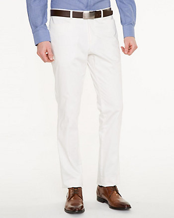 Stretch Cotton Sateen Slim Leg Pant