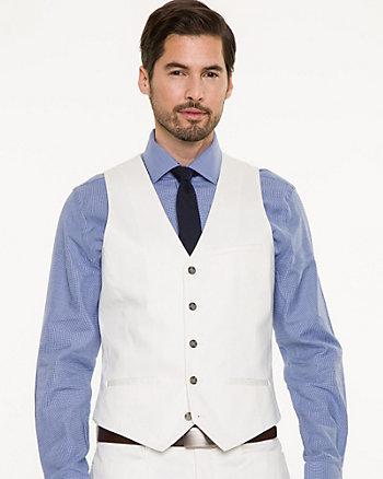 Stretch Cotton Sateen City Fit Vest