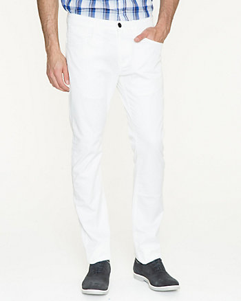 Cotton Blend Skinny Leg Pant