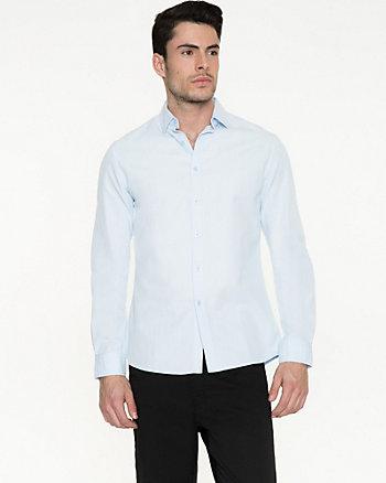 Textured Cotton Slim Fit Shirt
