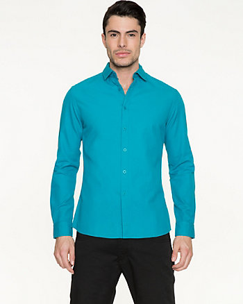 Textured Cotton Slim Fit Shirt