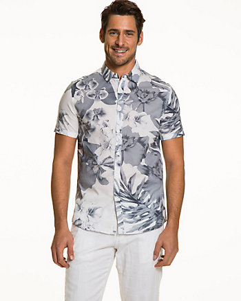 Floral Cotton Slim Fit Shirt