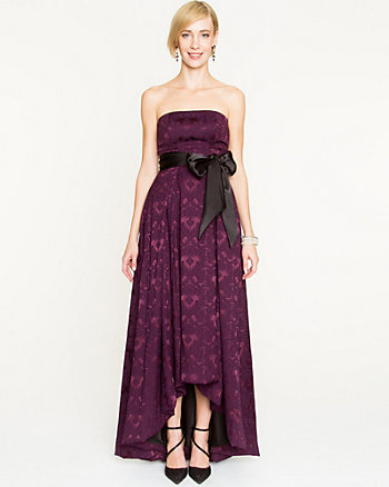 Jacquard High-Low Gown