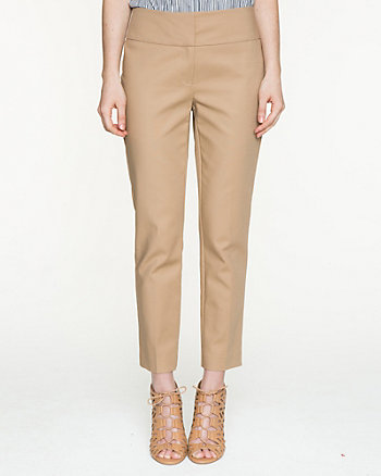 Stretch Cotton Slim Leg Crop Pant