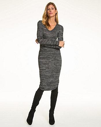 Jersey V-Neck Midi Dress