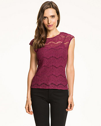 Lace Crew Neck Blouse