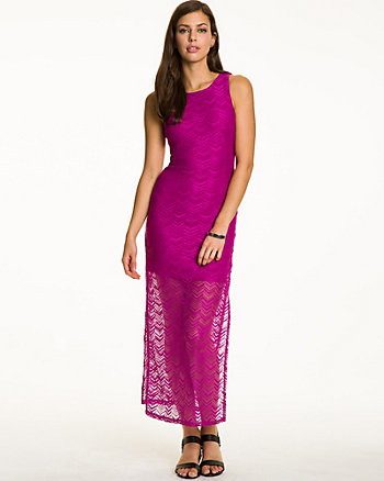 Zig Zag Lace Maxi Dress