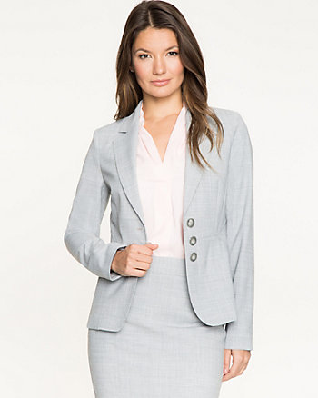 Crosshatch Notch Collar Blazer