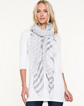 Polka Dot & Stripe Lightweight Scarf