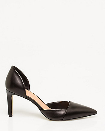 Italian-Made Leather d'Orsay Pump