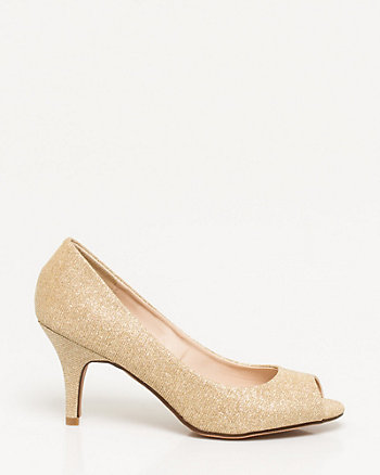 Metallic Peep Toe Pump